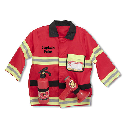 Personalized Fire Chief Role Play Costume Set
