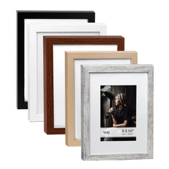 5X 7 Picture Frame w-Mat/8 X 10 without Mat - 5 Units