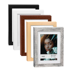 4 X 6 Picture Frame w-Mat/5 X 7 without Mat - 5 Units