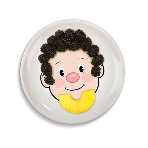 Boys Food Face Plate