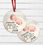 Birth Announcement Ornament