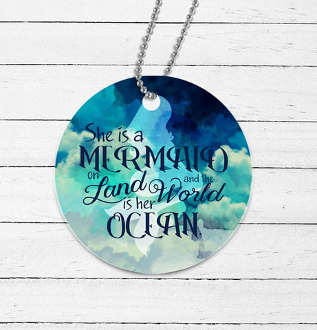 Mermaid Quote Mirror Charm