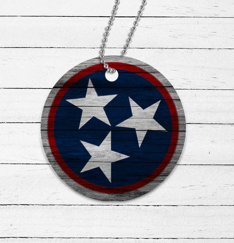 Tennessee Tri-Star Mirror Charm