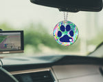 Dog Paw Mirror Charm