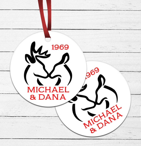 Deer Couple Ornament