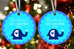 Elephant First Christmas Ornament