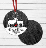 First Christmas - Mr and Mrs Ornament