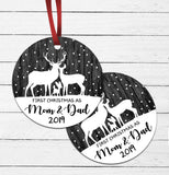 First Deer Christmas - Parents Ornament