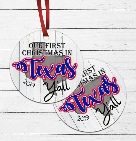 First Texas Christmas Ornament
