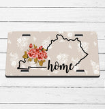 Rustic Lace State/Name License Plate