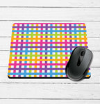 Neon Plaid Mouse Pad
