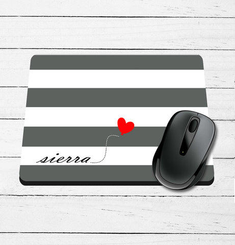 Striped Personalized Printed Mouse Pad