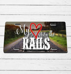 Heart on the Rails License Plate