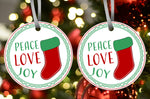 Peace Love Joy Ornament