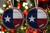 Texas Flag Ornament