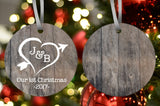 Our First Christmas - Heart Ornament