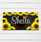 Sunflower Name License Plate
