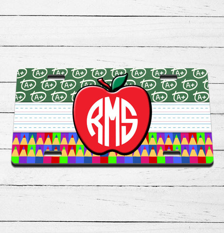 Teacher Monogram License Plate