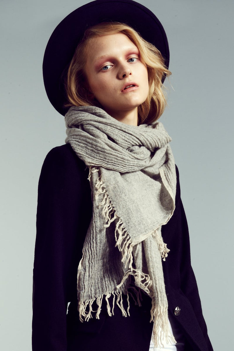 Women's cashmere scarf.