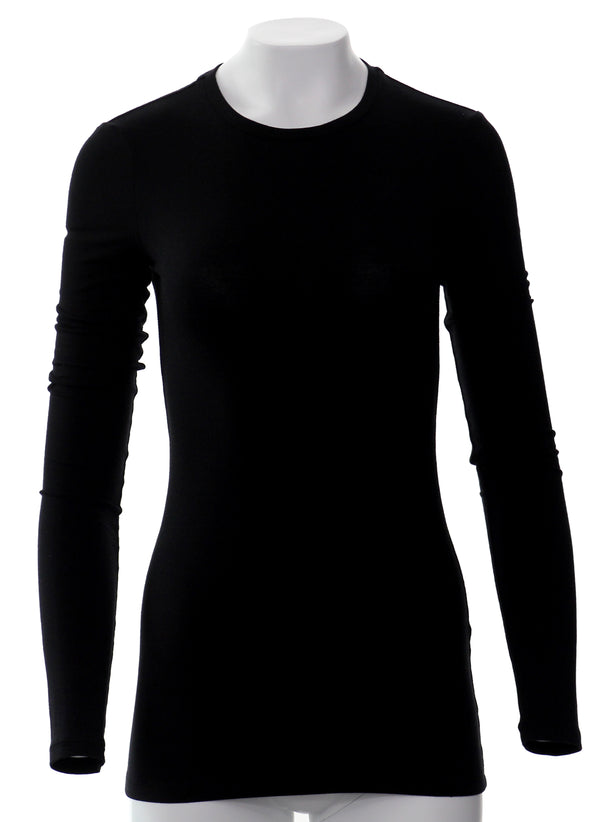 The Anna Long Sleeve Fitted Crew Neck Tee