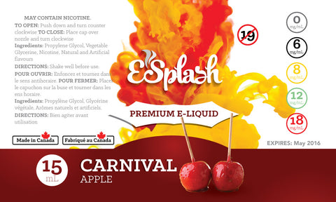 Carnival Apple E-Splash 15ml