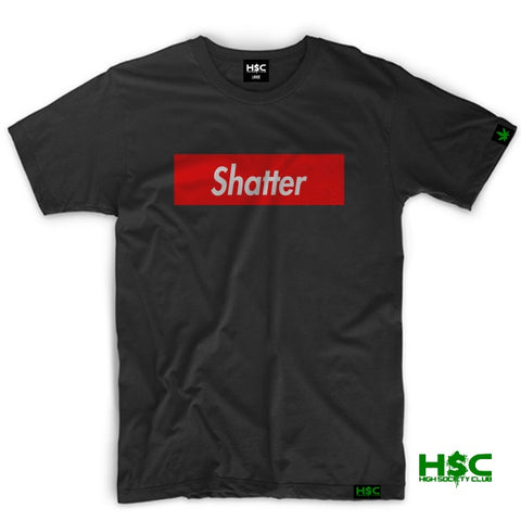 "High Society Club  ""Shatter"" T Shirt. Black"
