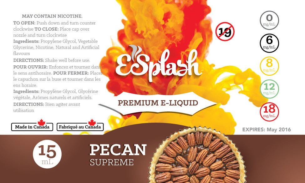 Pecan Supreme E-Splash 15ml