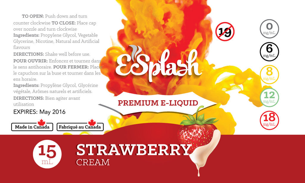 Strawberry Cream E-Splash 15ml