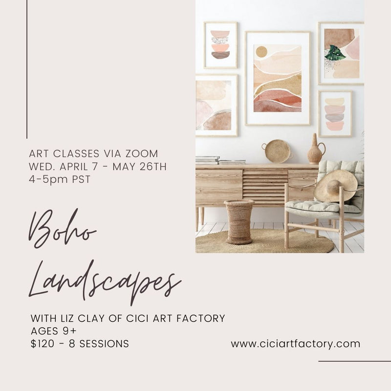BOHO Landscapes  AGES 9+ WED. April 7 -  MAY 25 | Cici Art Factory
