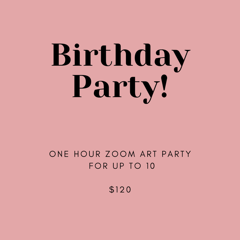 Online Birthday Art Party for Kids with Vancouver artist Liz Clay of Cici Art Factory