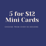 Set of 5 Baby Animal Mini Cards