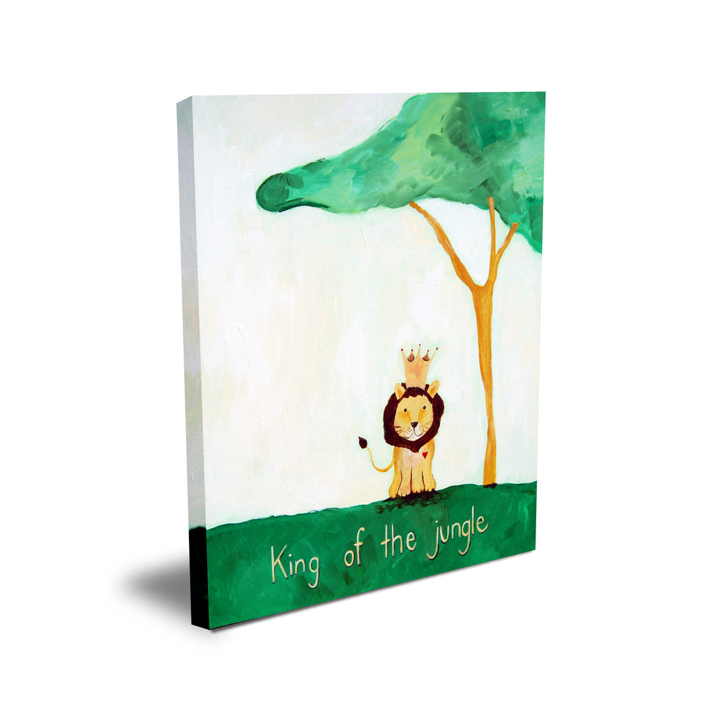 Green - Baby Nursery Wall Quote Art - King of the Jungle Wall Decor for Baby Nursery by Cici Art Factory