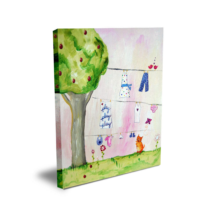 Play Play Play  - Baby Prints for Nursery by Cici Art Factory