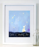Catch a Shooting Star  - Baby Nursery Quote Art