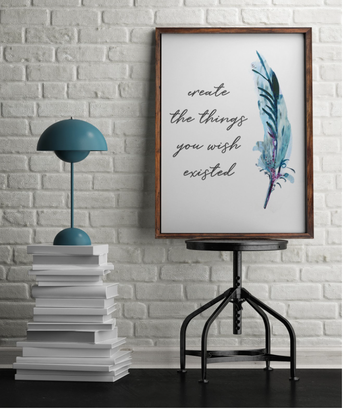 create the things you wish existed Art Print by Vancouver Artist Liz Clay