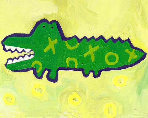 Croc art card by Cici Art Factory