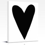 Black and white heart nursery art by Cici Art Factory