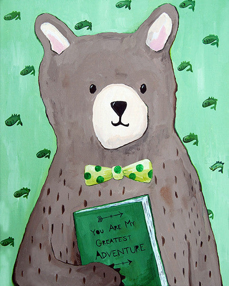 Bear nursery art print by Cici Art Factory