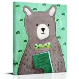 Bear toddler wall decor by Cici Art Factory