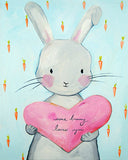 Bunny nursery art print Some Bunny Loves You by Cici Art Factory