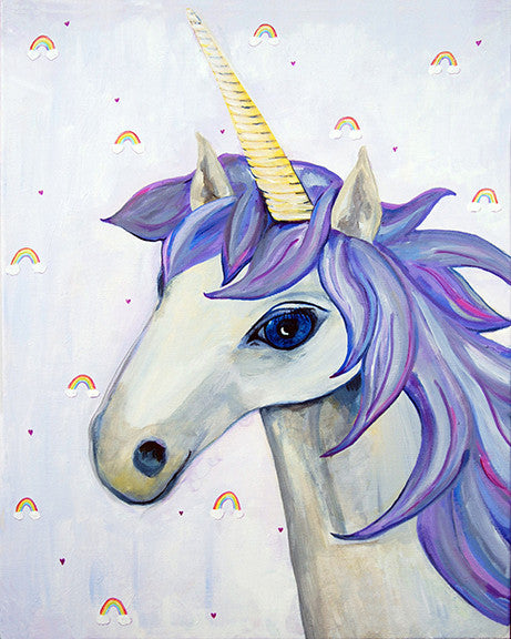 Unicorn art for kids rooms by Cici Art Factory
