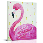 Flamingo art Hello Beautiful by Cici Art Factory