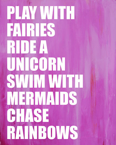 Mermaid Unicorn art print by Cici Art Factory