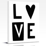 Black and White LOVE nursery art print by Cici Art Factory