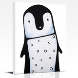 Black and White Penguin Nursery Art Print by Cici Art Factory