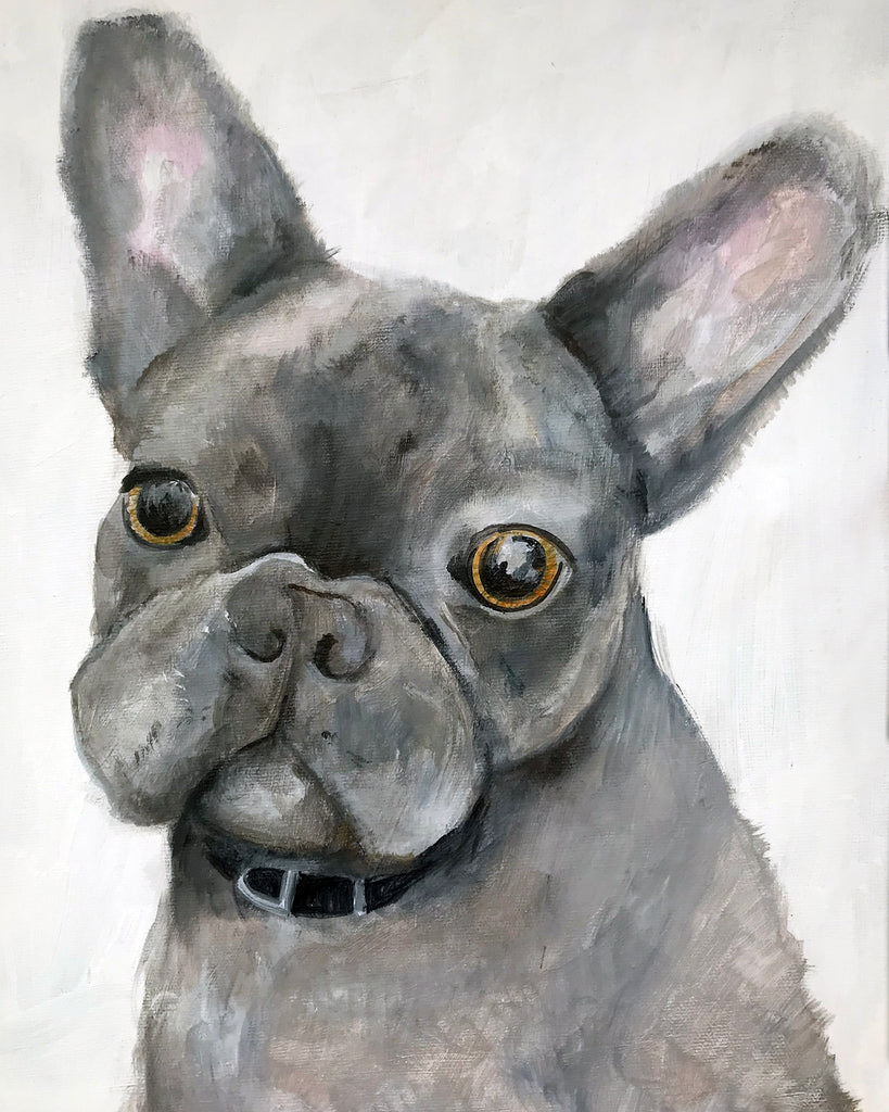 Modern Dog Portrait - Pet Art for your home by Vancouver artist Liz Clay