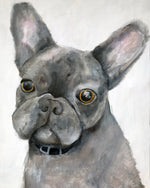 Modern Dog Portrait - Pet Art for your home by Vancouver artist Liz Clay. Original hand-painted custom dog painting.