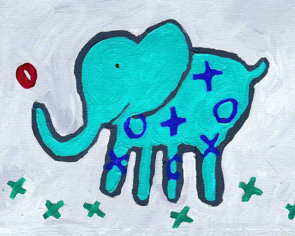 Elephant art card by Cici Art Factory