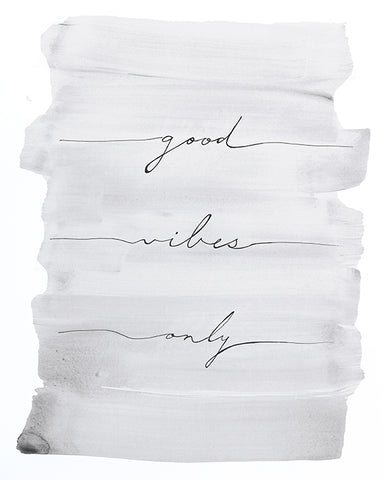 Good Vibes Only Art print by Liz Clay - Girl Empowerment
