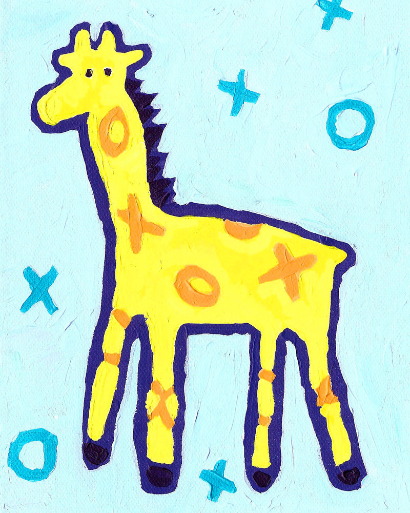 Giraffe art card by Cici Art Factory
